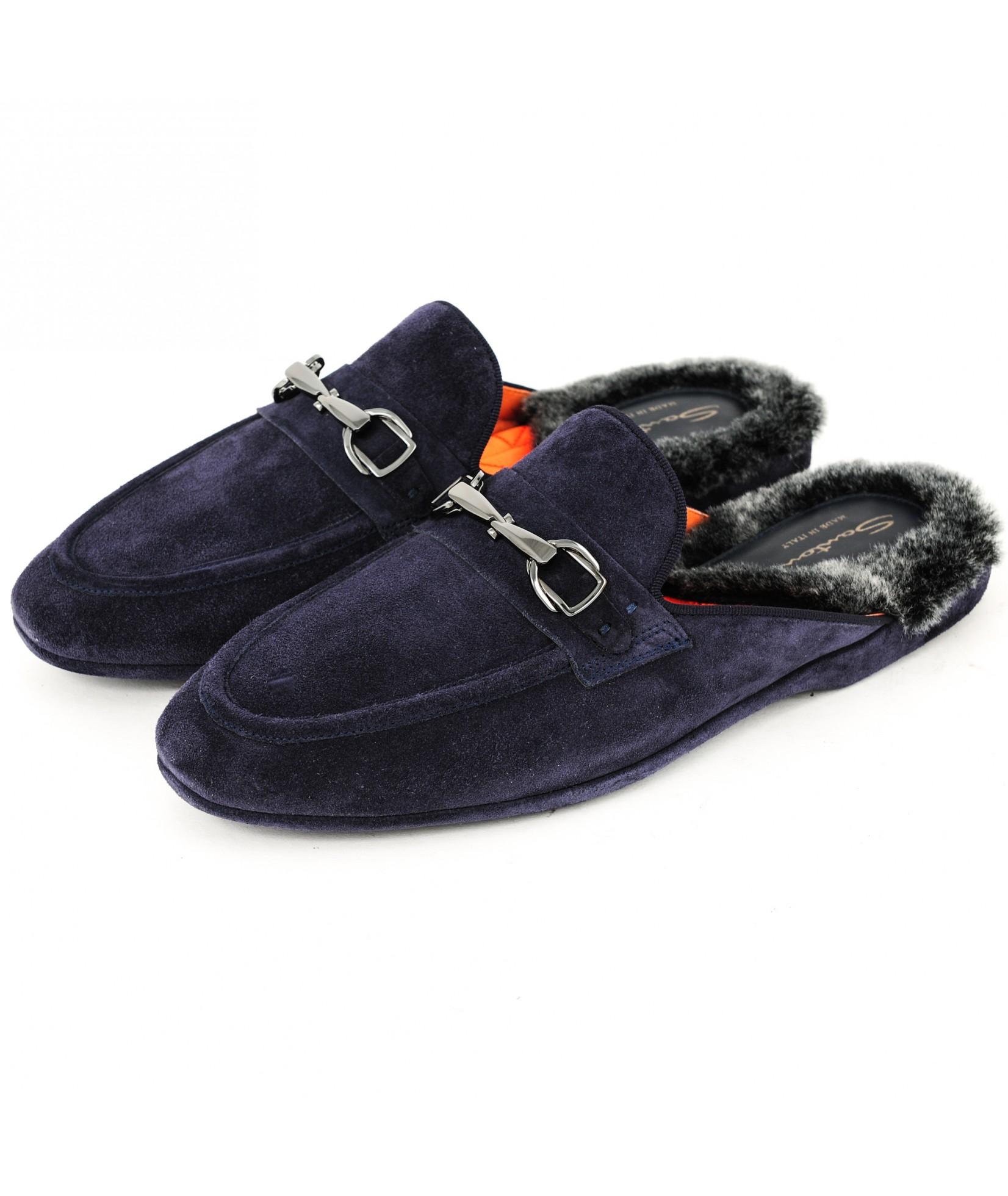 Santoni Pantofola Blue (31677)